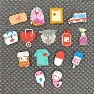 Medical Nurse RN shoe charm set